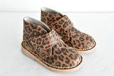Desert suède laarzen met luipaardprint desert boots with leopard print animal print
