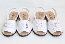 Borduurwerk klassieke Avarca sandal