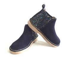 Chelsea suède laarzen met glitter