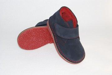 Desert suède laarzen met fleece voering en klittenband