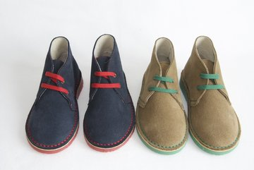 PROMOTION - Desert suede boots with contrast laces, stitches and sole
