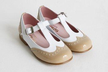 T-strap ballerina's met gespsluiting