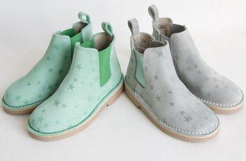 Chelsea suède laarzen met sterren dessin