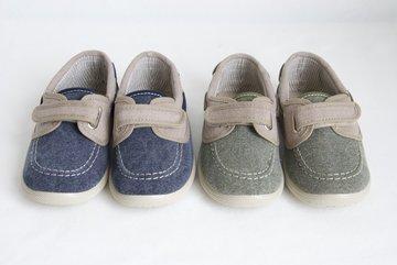 Canvas bootschoenen met klittenband