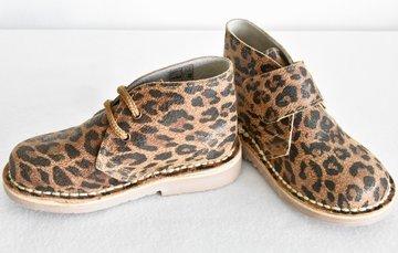 Desert suède laarzen met luipaardprint