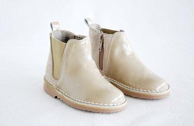 Chelsea lakleren laarzen gecombineerd met suede